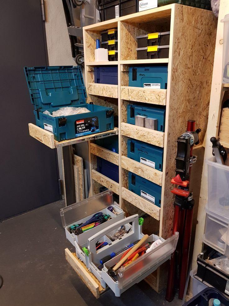 Systainer Cabinet Schrank Festool Osb Werkstatt Workshop Woodworking Cabinet Festool Osb Schrank Systainer Wer In 2020 Diy Woodworking Woodworking Plans Festool