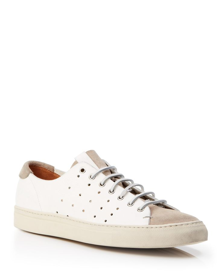 Buttero Leather Perforated Low Sneakers | Bloomingdale's