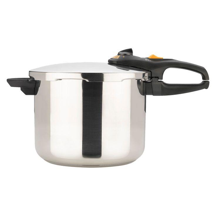 Fagor Duo 8 Qt. Pressure Cooker, Light Silver