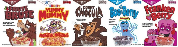 General Mills brings back Yummy Mummy and Fruit Brute in retro boxes for Halloween