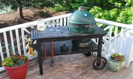 Picture of Cast Aluminum Table for Lg Big Green Egg