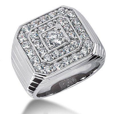 Men's Diamond Ring in Platinum