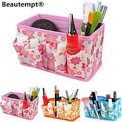 Klapp quadratisch Kosmetika Lagerstandkasten Make-up Pinsel Topf kosmetische Veranstalter (3 Farben zur Auswahl)