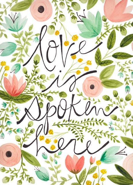 Love is spoken here.