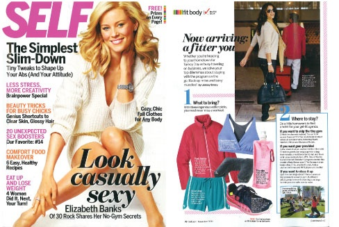 """Check out the ultimate gym companion in featured in Self Magazine. Hint: you can drink from it & it rhymes with """"Paper"""""""