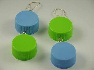 Plastic Bottle Cap Craft Ideas Beach Petals Plastic Bottle Cap Earrings Crafts To Make
