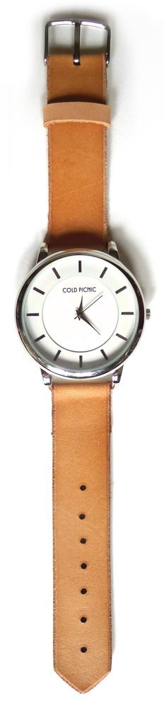 Cold Picnic — Handmade Natural Leather WatchPicnics Watches, Cold Picnics, Tic Tock If, Leather Watches, Basic Leather, Nature Leather, Handmade Nature