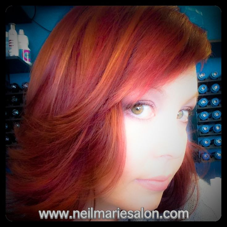 Warm Amp Cool Copper Red Violet Hair Color Goldwell Color