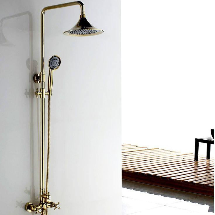 285 - Suex Classic Exposed Rain & Hand Shower Set in Gold or Chrome