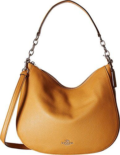 40980af43459  195 - COACH Womens Polished Pebbled Leather Chelsea 32 Hobo