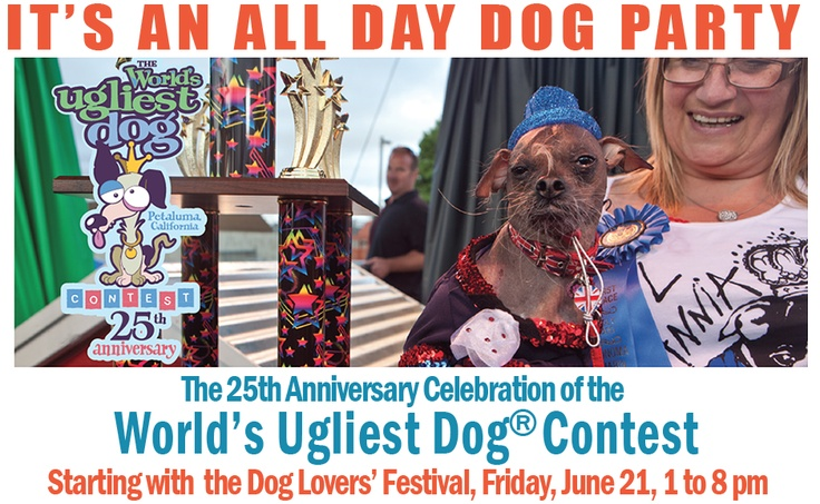 Our very own Bob & Sheri are hosting this year!  Check out The World's Ugliest Dog Contest this year at The Sonoma-Marin Fair - June 21st...and MEET Bob & Sheri!