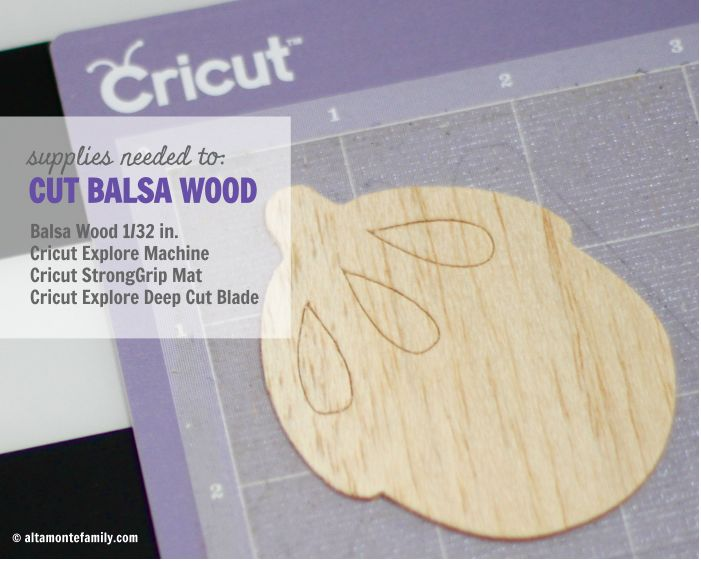 Supplies Needed To Cut Balsa Wood With The #Cricut Explore