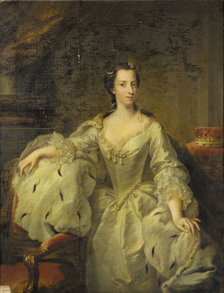 Princess Mary, 1727, daughter of King George II of Great Britain, by Johann Heinrich Tischbein