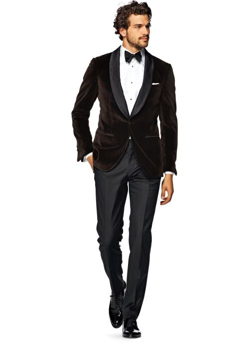 Brown Velvet Dinner Jacket Suitsupply AW15 http://thesnobreport.tumblr.com/post/133357212732