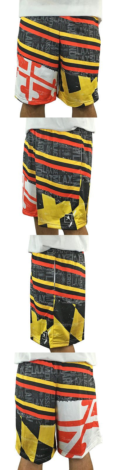 Clothing 159152: Maryland Flag Lacrosse Shorts -Youth-Small BUY IT NOW ONLY: $37.99