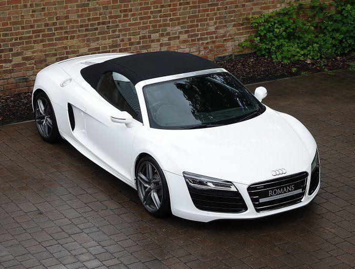 2013 (13) Audi R8 V10 Spyder for sale | Ibis White
