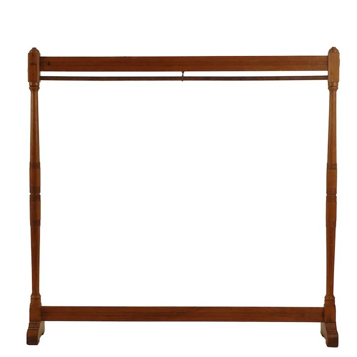 how to make a wooden clothes rack