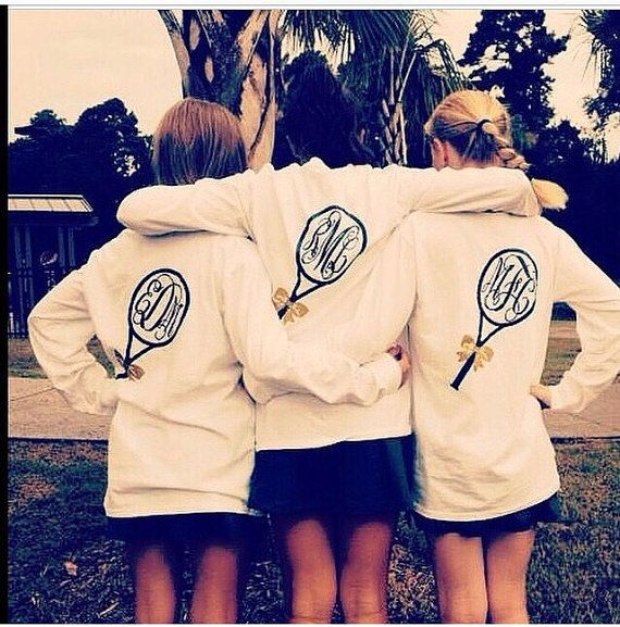 Hey, I found this really awesome Etsy listing at https://www.etsy.com/listing/217012189/monogramed-tennis-long-sleeve-tee