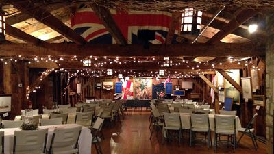 Navy Hall decorated for a wedding!