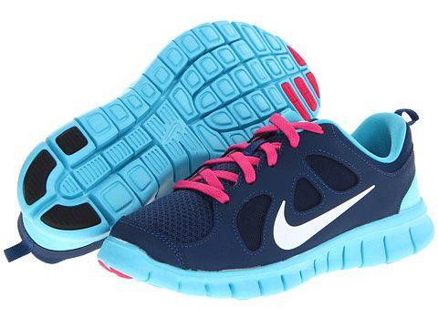 Nike Kids Free Run 5 0 Little Kid Distance Blue Black White Pink Foil, Nike