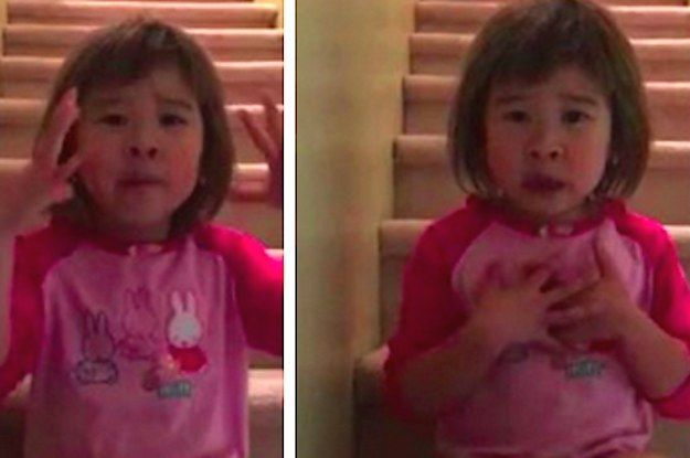 C'est la Canadienne Cherish Sherry qui a publié la vidéo de sa petite fille sur Facebook le 16 septembre dernier. En moins d'une semaine, elle a été vue plus de 8 millions de fois. | Une petite fille demande à ses parents de rester amis