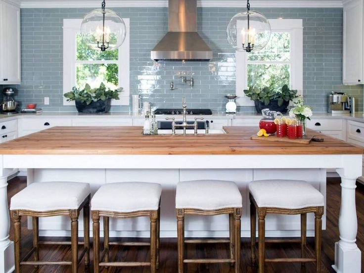 9 things we learned from joanna gaines butcher blocks for Joanna gaines style kitchen