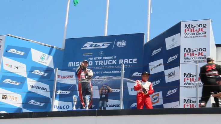 MISANO GRAND PRIX TRUCK 2017 RACE 3 - winners and champagne LACKO, KISS,...