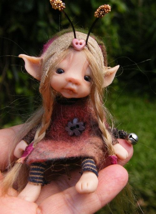 sweet posable tiny forest  bug fairy fairie ooak. $98.00, via Etsy.