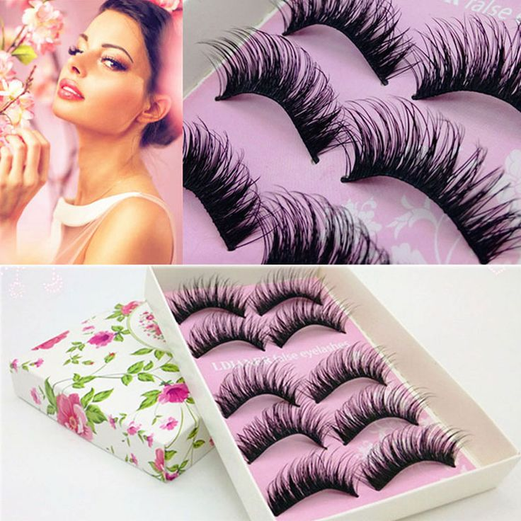 5Pairs Natural Eye Lashes Makeup Handmade Crisscross Thick Fake Eyelash Cross False Eyelashes Extension Cosmetics Tools