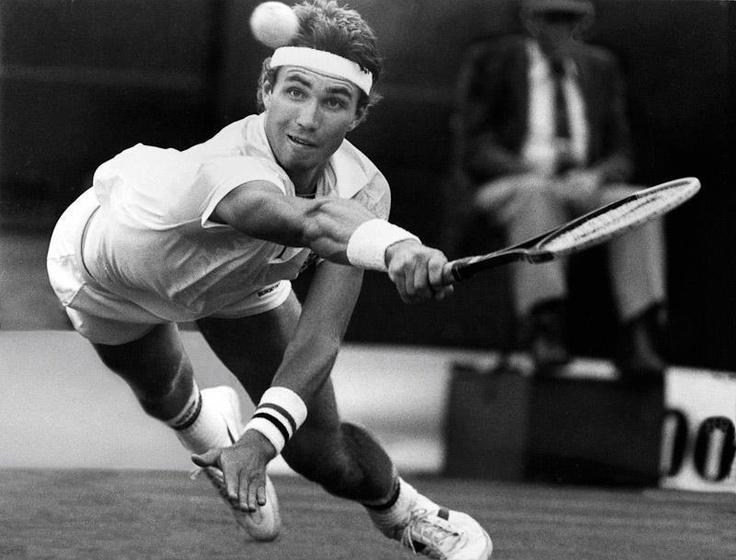 Pat Cash (Australia) Wimbledon Champion 1987.   Come on, man, put some effort into it!