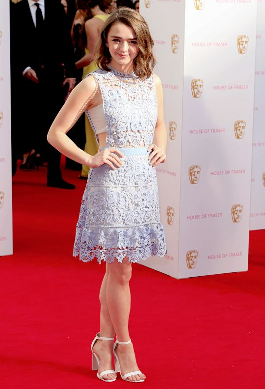 Maisie Williams attend the House of Fraser British Academy (BAFTA) Television Awards (May 10, 2015)
