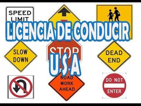 Ayuda para el examen de la licencia de conducir  USA 1era Parte. Señales...