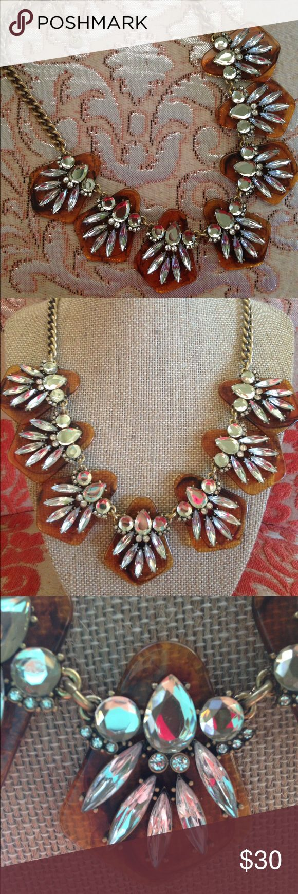 Ann Taylor Loft Tortoise Merging glossy tortoiseshell and glittery crystals, it's impossible to overstate how much we love this shimmering outfit-maker. Goldtone finish. LOFT Jewelry Necklaces