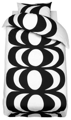 Kaivo Euro Twin Bedding Black/White