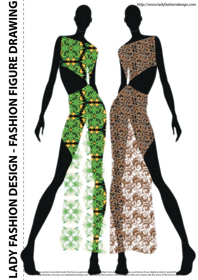 fashion figure drawing and sketch sample fashion design