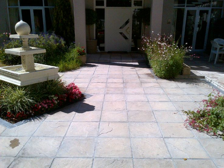 Quarry Pavers  http://stonemarket.co.za/FlagstonePaverNewStraightEdge440x440x40.html