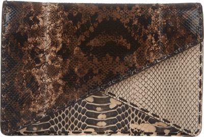 Bottega Veneta Snakeskin Double-Flap Clutch at Barneys New York