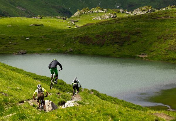 Mountain biking in Morzine, France -surrounded by more than 400 miles of marked mountain bike trailsL