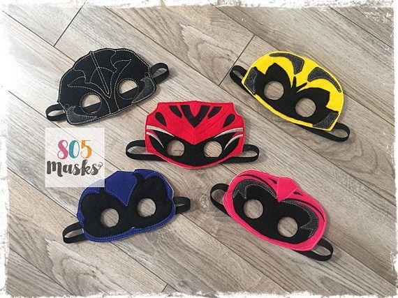Power Ranger Inspired Masks, Kids Masks, Kids Costumes, Power Rangers, Power Ranger birthday, Mighty Morphin Power Rangers