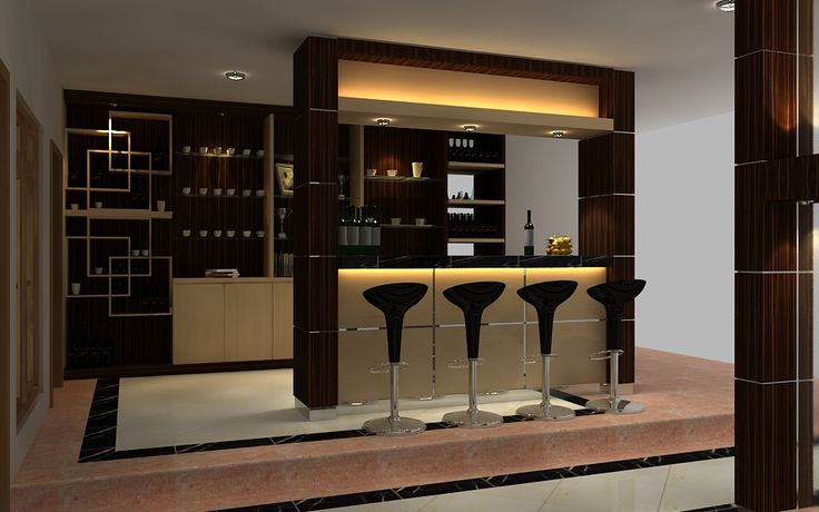 Mini bar kitchen small kitchen interior design with mini for Modern kitchen design with bar