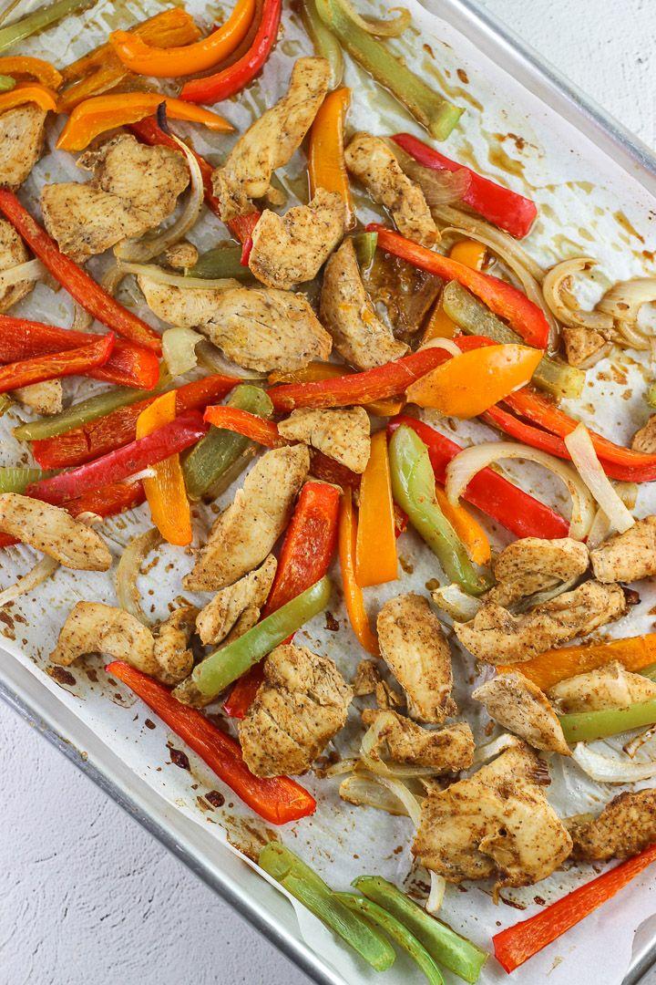 Healthy Baked Chicken Fajita recipe! Easy and quick to make!
