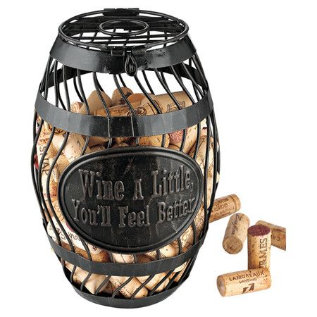 Found it at AllModern - Wine Barrel Cork Catcher in Antique Bronzehttp://www.allmodern.com/deals-and-design-ideas/p/Happy-Hour%3A-Cheers-to-Chic%21-Wine-Barrel-Cork-Catcher-in-Antique-Bronze~WINE1675~E13718.html?refid=SBP.rBAZEVQVx348QGWcnWUuAn-LSH3HSEjyh9myYiW9PfQ