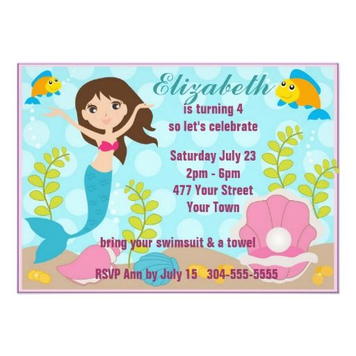 Best Kids Pool Party Invitations Images On   Pool