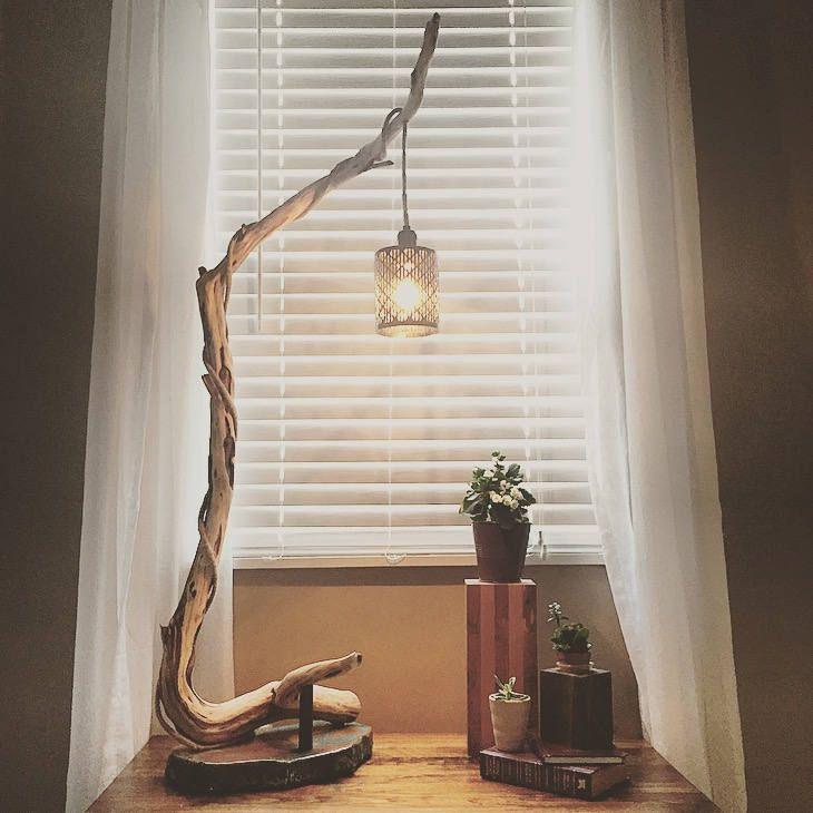 Rustic Floor Lamp Wood Floor Lamp Tree Branch Floor Lamp