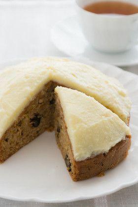 イギリス伝統のキャロットケーキ 卵は使わず!フロスティングは豆腐で代用!