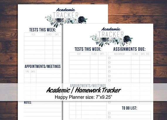 homework agenda printable