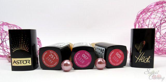 Astor Color Last VIP Lipsticks http://www.sweetcherry.de/2013/09/swatches-astor-color-lip-vip.html