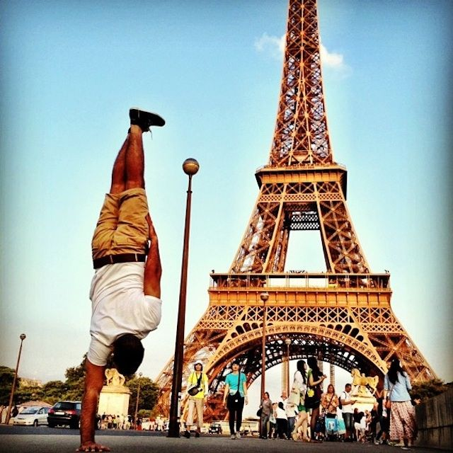 Breakdancer at Famous Paris Landmarks 4