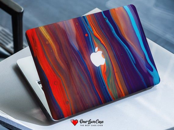 Watercolor paint stripes print clip protective cover for all macbook model Macbook 12 Inch Case macb