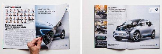 Publicidad en revista impresa. Doble página. Advertisement in print magazine . Double page.